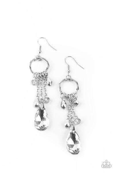 Glammed Up Goddess Silver Earrings