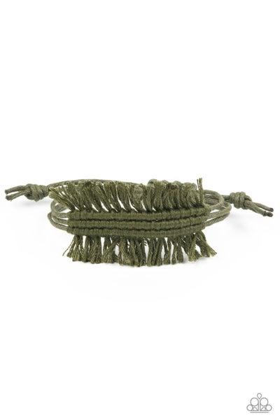 Make Yourself At Homespun Green Bracelet