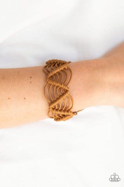 Rise To The Bait Brown Urban Bracelet