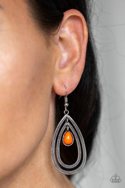 Drops of Color Orange Earrings