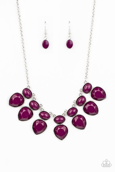 Modern Masquerade Purple Necklace