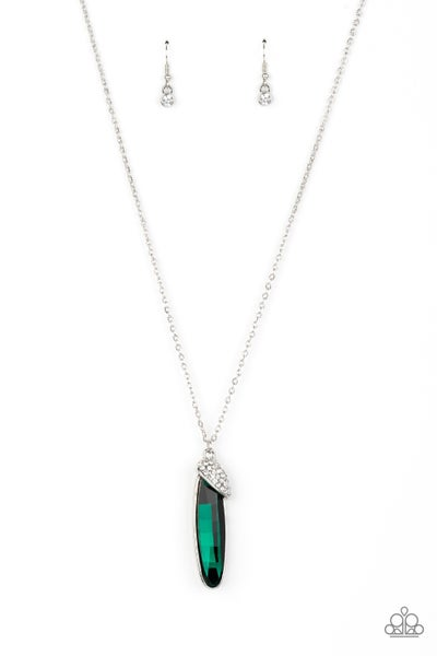 Spontaneous Sparkle Green Necklace
