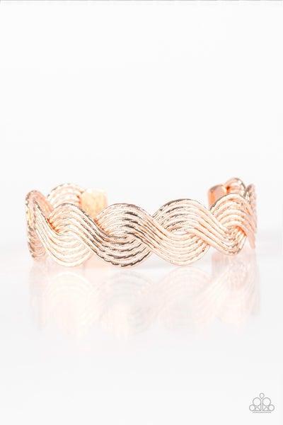 Braided Brilliance Rose Gold Bracelet