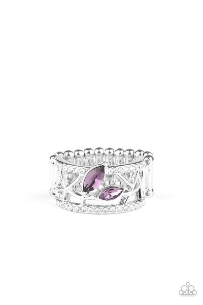 Tilted Twinkle Purple Ring