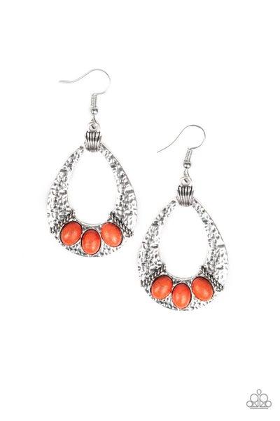 Terra Terrific Orange Earrings