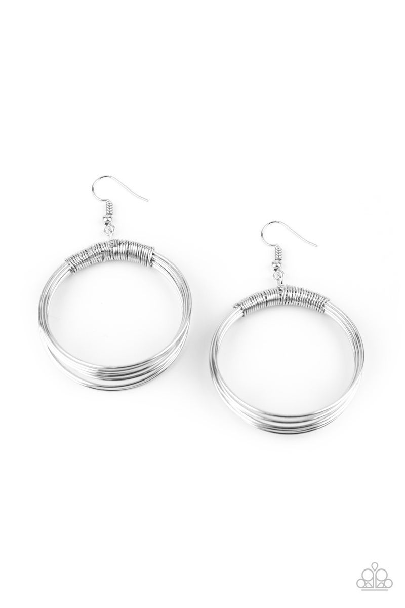 Urban Spun Silver Earrings