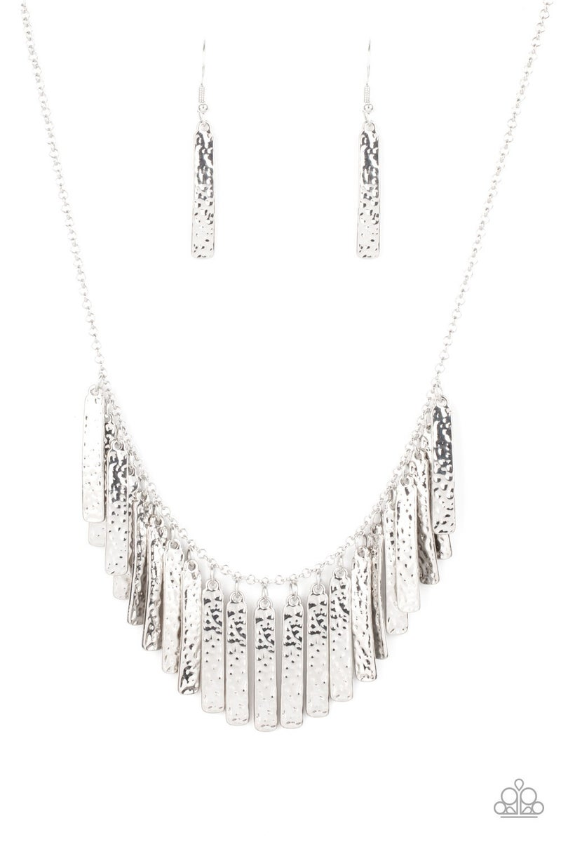 Metallic Muse Silver Necklace