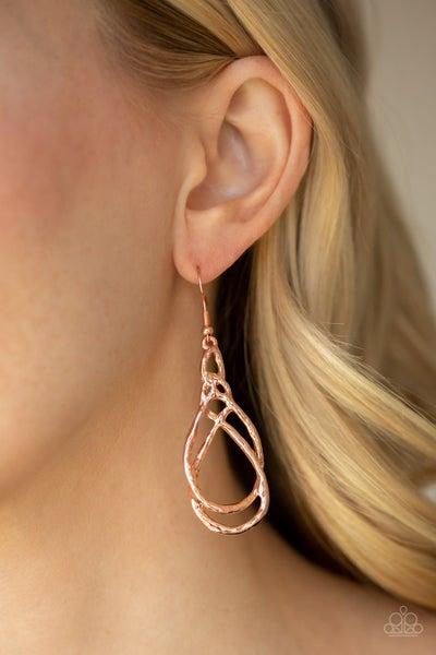 Twisted Elegance Copper Earrings