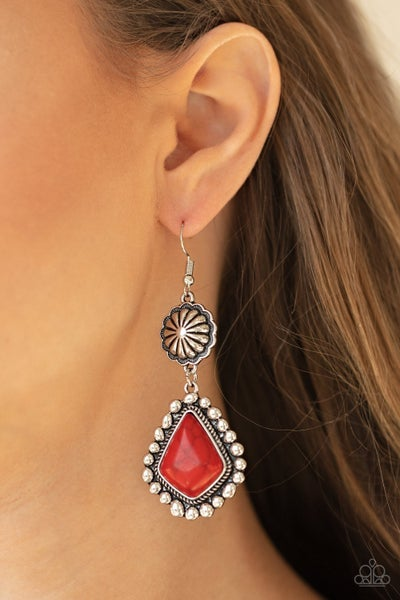 Country Cavalier Red Earrings