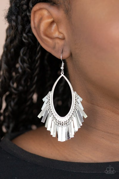 Fine-Tuned Machine Silver Earrings