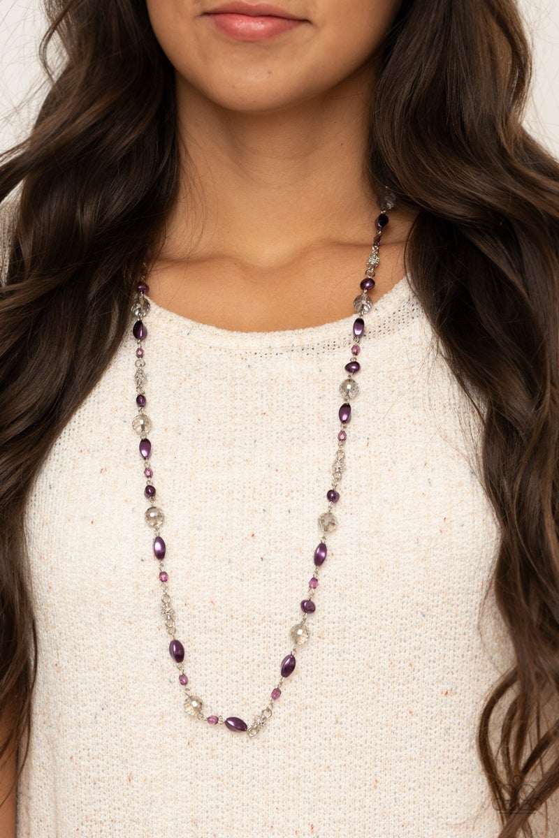 Twinkling Treasures Purple Necklace