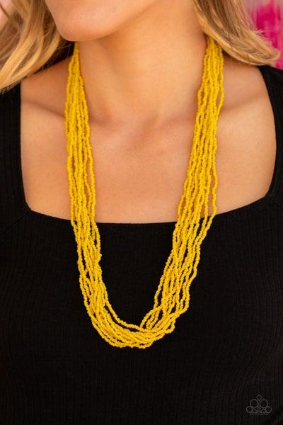 Congo Colada Yellow Necklace