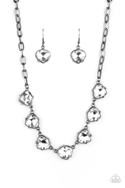 Star Quality Sparkle Gunmetal Necklace