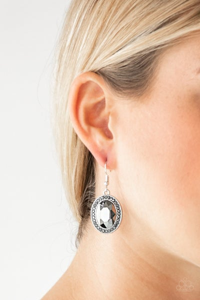 Only FAME In Town Silver Earrings