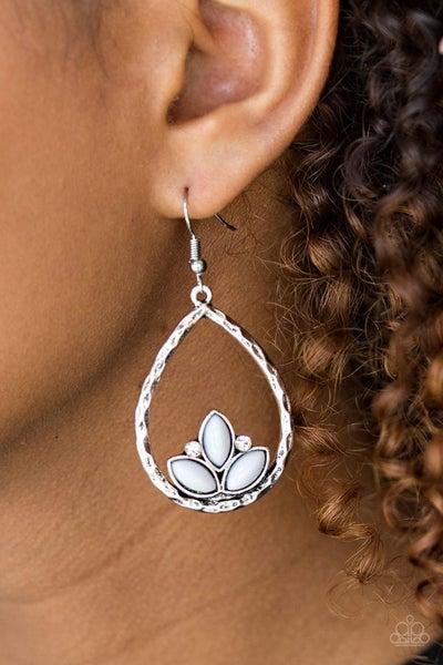 Lotus Laguna Silver Earrings