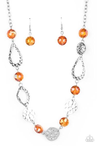High Fashion Fashionista Orange Necklace
