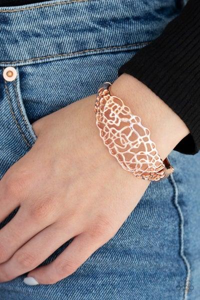 Airy Asymmetry Rose Gold Bracelet