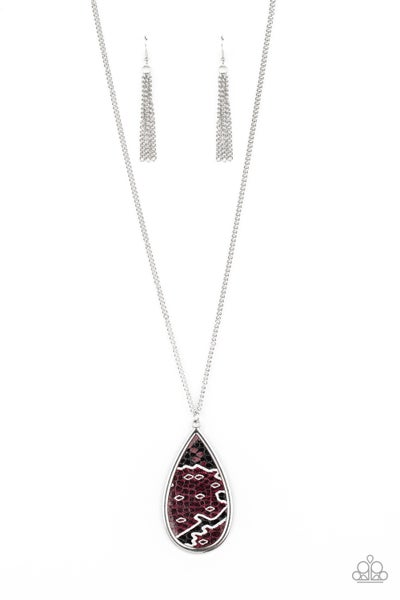 Artificial Animal Purple Necklace