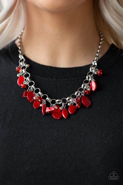 I Want To SEA The World Red Necklace