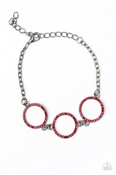 Dress The Part Red Gunmetal Bracelet