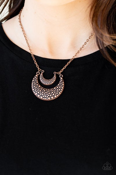 Get Well Moon Copper Necklace