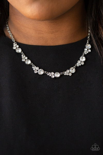 Social Luster White Necklace