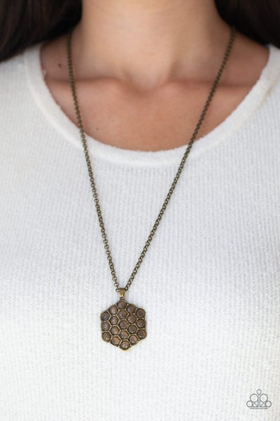 East Coast Elixir Brown Brass Necklace