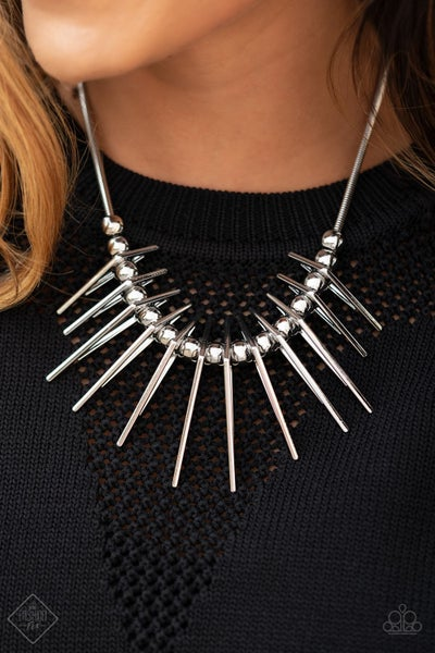 Fully Charged Silver Necklace