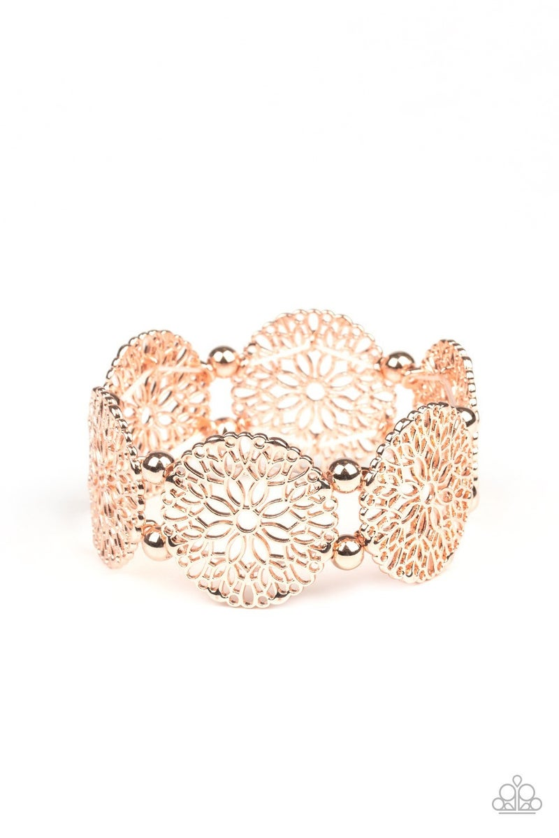A Good Mandala Is Hard To Find Rose Gold Bracelet