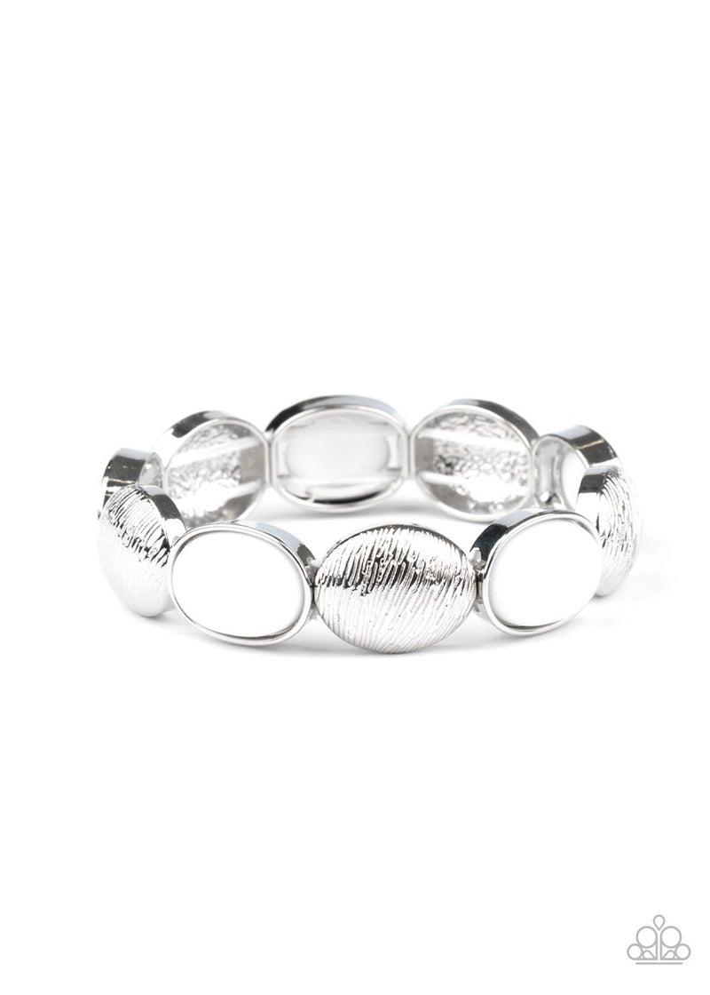 Decadently Dewy White Bracelet