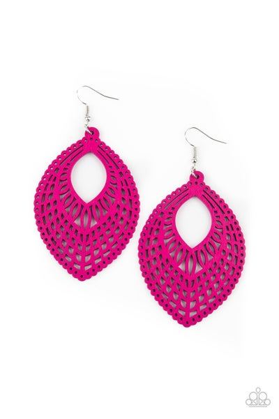 One Beach At A Time Pink Earrings