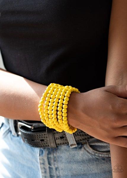 Diving In Maldives Yellow Bracelet