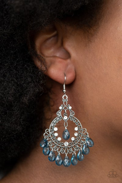 Lyrical Luster Blue Earrings