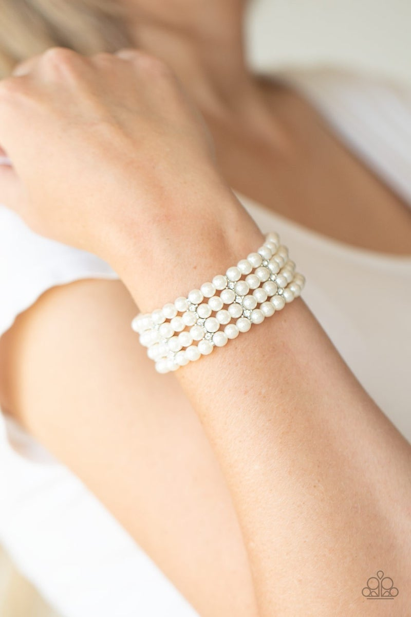 Stacked To The Top Pearl Bracelet