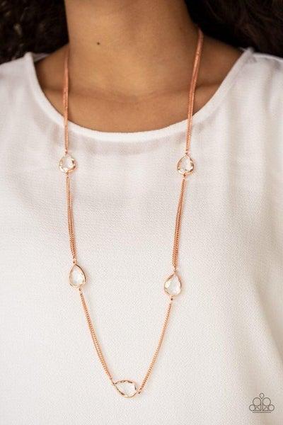 Teardrop Timelessness Copper Necklace