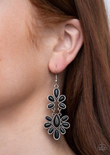 Cactus Cruise Black Earrings
