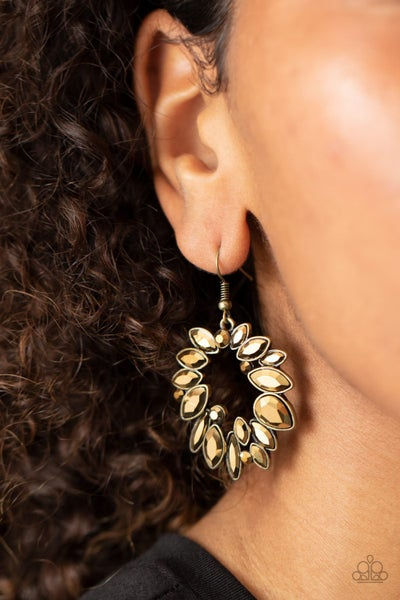 Try As I Dynamite Brass Earrings