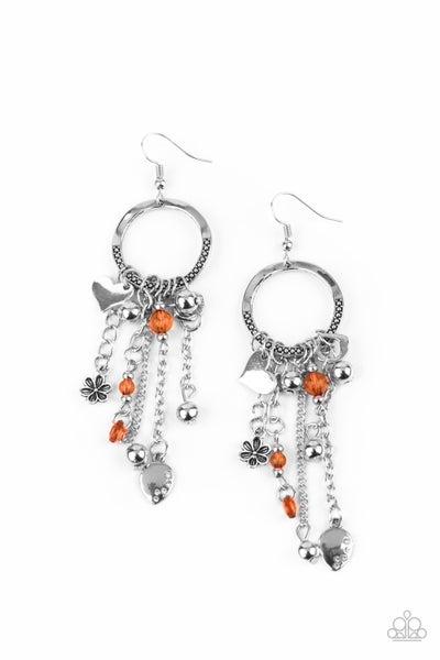 Charm School Orange Earrings