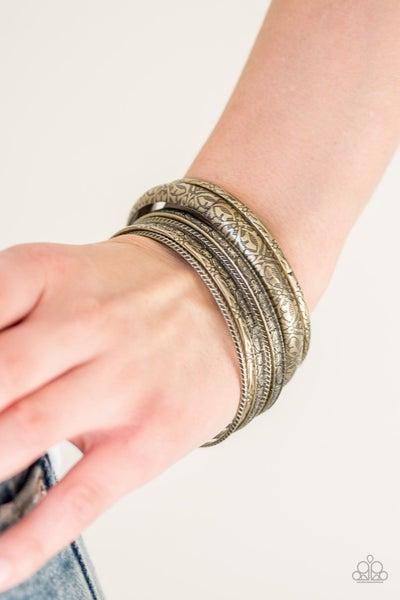 Hidden Groves Brass Bracelet