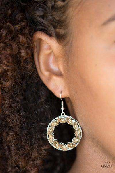 Global Glow Brown Earrings