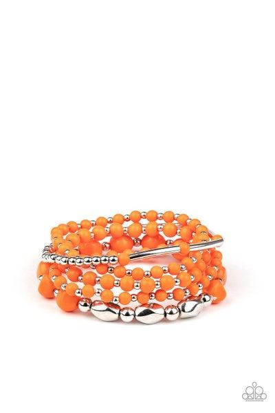 Vibrantly Vintage Orange Bracelet
