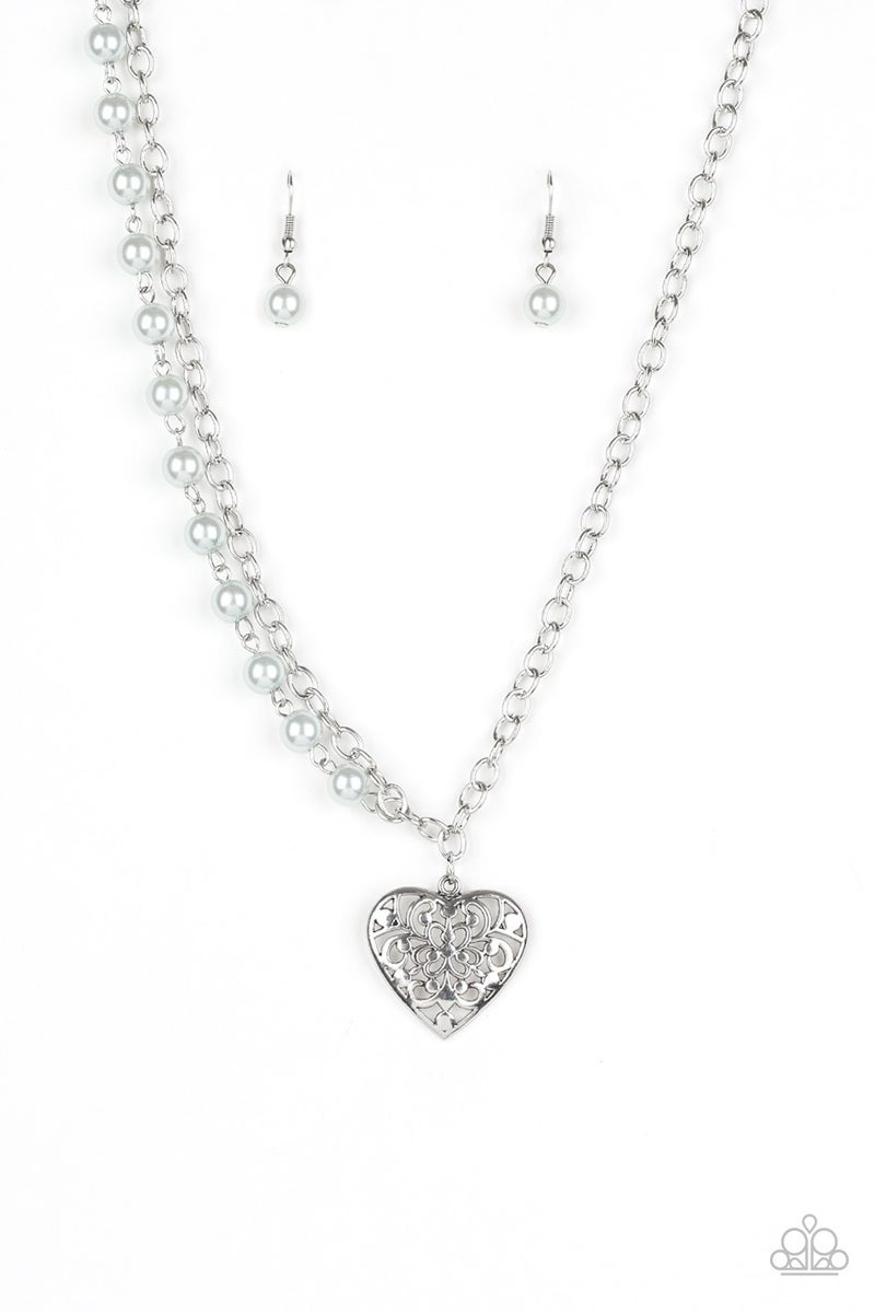 Forever In My Heart Silver Necklace
