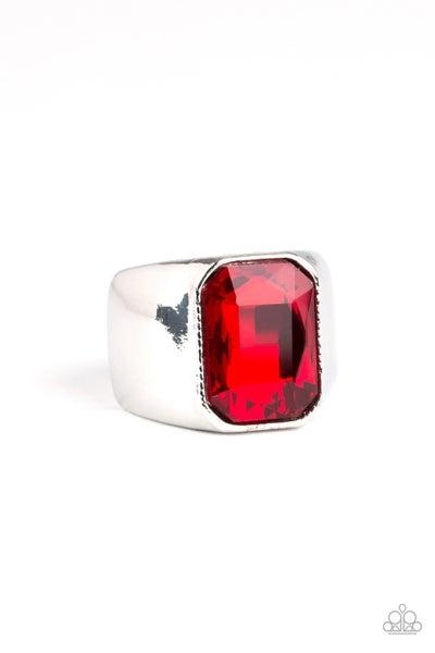 Scholar Red Mens Ring