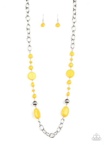 When I Glow Up Yellow Necklace