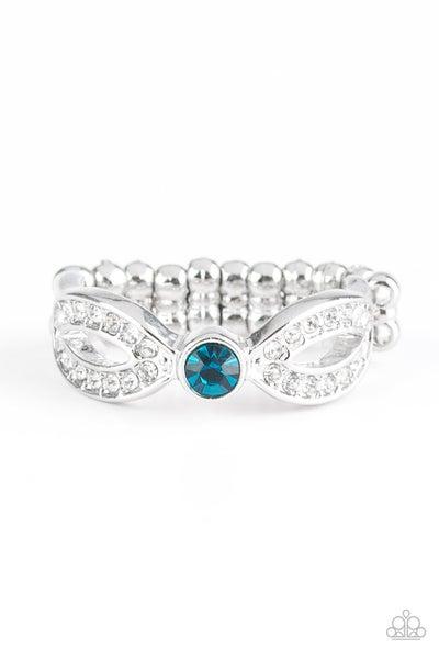 Extra Side Of Elegance Blue Ring