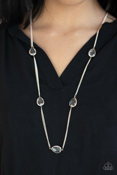 Teardrop Timelessness Rose Gold Necklace
