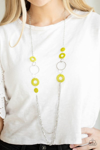Tropical Sunsets Green Necklace