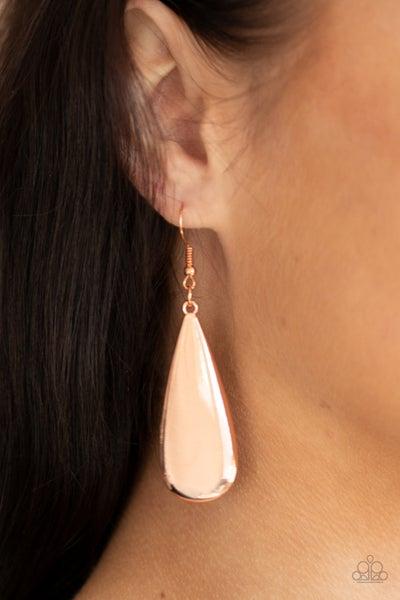 The Drop Off Copper Earrings