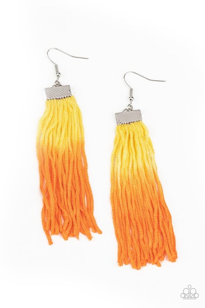 Dual Immersion Yellow Orange Earrings
