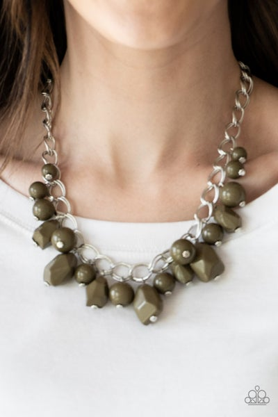 Gorgeously Globetrotter Green Necklace